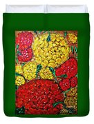 Red And Yellow Garden Duvet Cover