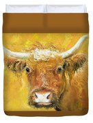Red Angus Cow Duvet Cover