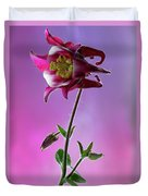 Red Aquilegia 2 Duvet Cover