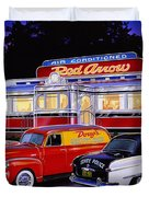 Red Arrow Diner Duvet Cover