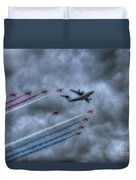 Red Arrows And A400m Airbus Duvet Cover