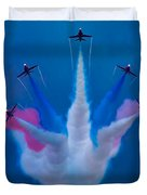 Red Arrows At Airbourne 2010 Duvet Cover