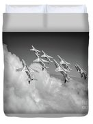 Red Arrows Sky High Bw Version Duvet Cover