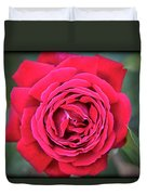 Red As A Rose  Duvet Cover