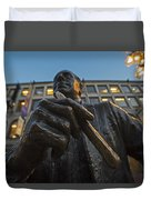 Red Auerbach Chilling At Fanueil Hall Duvet Cover