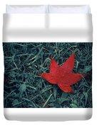 Red Autumn Duvet Cover