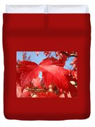 Red Autumn Leaves Fall Art Colorful Autumn Tree Baslee Troutman Duvet Cover