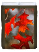 Red Autumn Leaves Duvet Cover