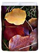 Red Autumn Leaves Duvet Cover