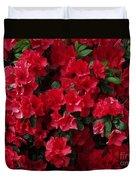 Red Azalea Blooms Duvet Cover