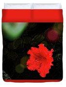 Red Azalea Duvet Cover