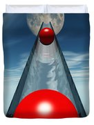 Red Balls From Space Duvet Cover