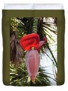 Red Banana Blossom Duvet Cover