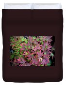 Red Bark Maple Leaves  Duvet Cover
