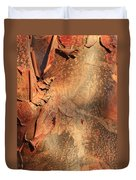 Red Bark Nature Abstract Duvet Cover