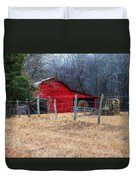 Red Barn A Long The Way Duvet Cover