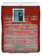 Red Barn Broken Window Duvet Cover