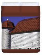Red Barn Close Up Duvet Cover