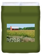 Red Barn In Pasture Duvet Cover