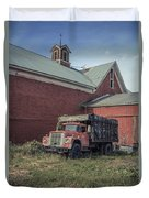 Red Barn Red Truck Duvet Cover