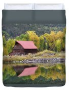 Red Barn Reflections Duvet Cover