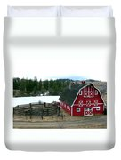 Red Barn Duvet Cover by Will Borden