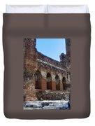 Red Basilica Scene 7 Duvet Cover