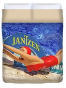 Red Bathing Suit Duvet Cover