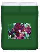 Red Bearded Iris Photograph Duvet Cover
