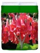 Red Bell Flowers. Sunny Spring Duvet Cover