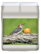 Red-bellied Woodpecker At The Feeder Duvet Cover