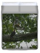 Red-bellied Woodpeckers Duvet Cover