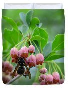 Red Bells And Wasp Duvet Cover