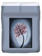 Red Black Tree Painting Duvet Cover