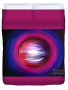 Red-black-white Planet. Twisted Time Duvet Cover