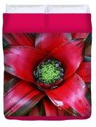 Red Bloom Duvet Cover