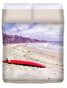 Red Board Duvet Cover