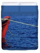 Red Boat Duvet Cover