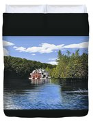 Red Boathouse Duvet Cover