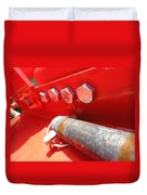 Red Bolt Action Duvet Cover