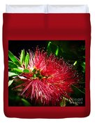 Red Bottle Brush Duvet Cover