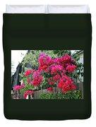 Red Bougainvillea Duvet Cover