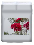 red bougainvillea in Laguna Guerrero Duvet Cover