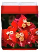 Red Bougainvillea  Duvet Cover