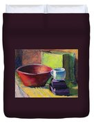 Red Bowl Duvet Cover