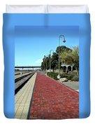 Red Brick Walkway Duvet Cover