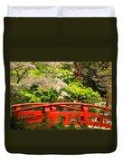 Red Bridge Springtime Duvet Cover