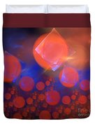 Red Bubble Suns Duvet Cover