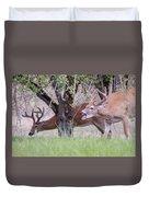 Red Bucks 5 Duvet Cover