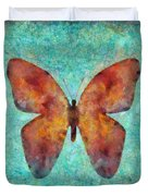 Red Butterfly Duvet Cover